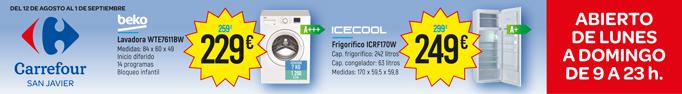 Carrefour verano oferta frigorífico y lavadora