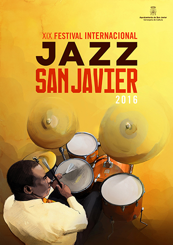 Cartel diseñado por Grafyco para Jazz San Javier