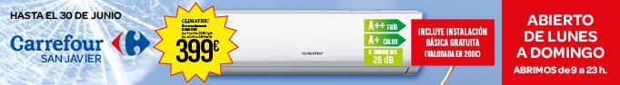 Campaña de verano Carrefour; oferta aire acondicionado