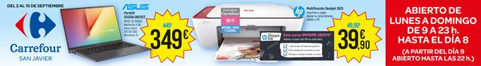 Campaña de verano Carrefour; oferta impresoras
