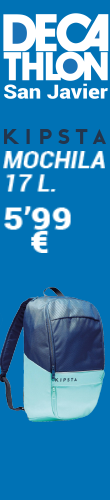 Decahtlon San Javier, mochila kipsta de 17 Litros a 5,99 Euros
