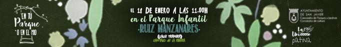 El dia 18 a las 11,30 horas el evento En tu parque o en el mio se traslada al parque Ruiz Manzanares