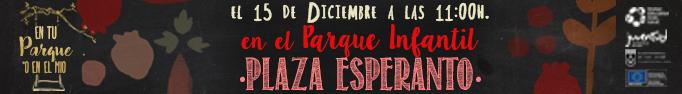 Cita en el Parque de la Plaza de Esperanto de San Javier el 15 Diciembre