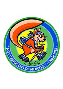 Mascota club senderista para rutas